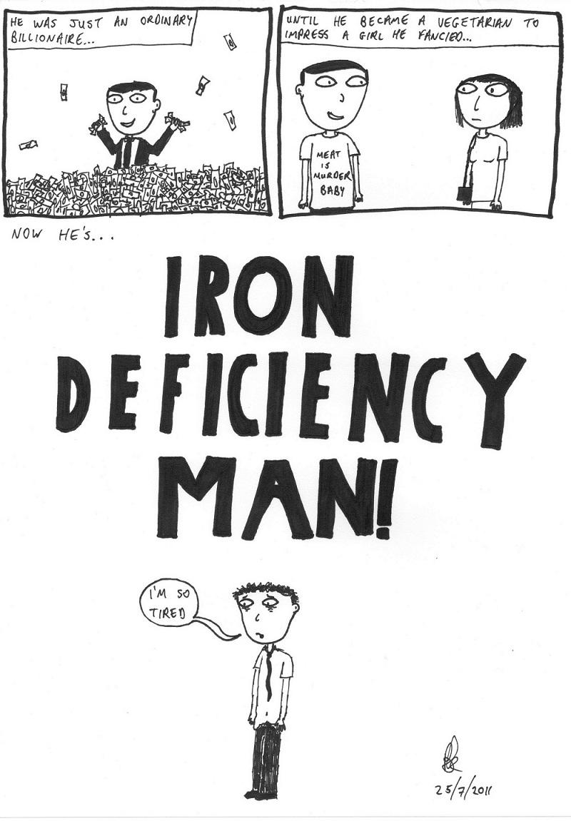 iron deficiency man!